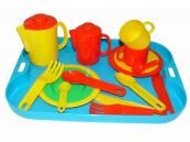 Dětská jídelní souprava pro 2 osoby s tácem