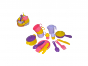 Dětské plastové nádobí pro 3 osoby
