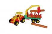 Traktor Mistr s kládami