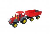 Traktor Altaj s přívěsem