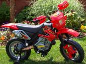 Elektrická motorka CROSS - červená