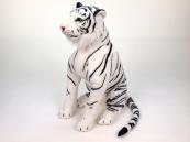 Plyšový sedící Tygr bílý