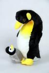 Plyšový tučňák s mládětem