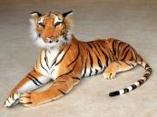 Plyšový Tygr oranžový ležící