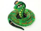 Plyšový had zelený