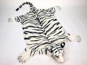 Plyšová předložka Tygr bílý velikost L