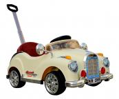 Elektrické autíčko retro s DO - béžové