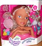 Česací hlava Maxi Sweety Doll s doplňky