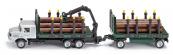 SIKU Super Kamion s vlekem na přepravu kmenů