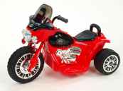 Elektrická motorka Chopper Harleyek 6V červená