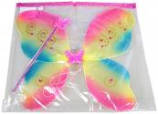 Motýlí křídla duhová s doplňky - karneval