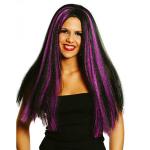 Paruka Witch fialový melír - karneval