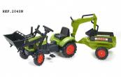 Šlapací traktor Claas Arion 410 zelený