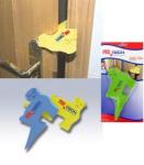 Ochrana proti přiskřípnutí prstů a stabilizátor dveří modrý