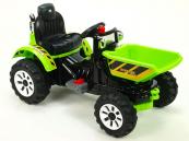 Elektrický traktor Kingdom s výklopnou korbou zelený