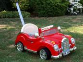 Elektrické autíčko retro s DO - červené