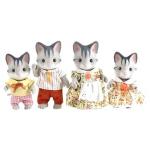 Rodina šedých koček