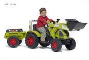 Šlapací traktor Claas Arion 540 s funkční přední lžící, valníkem