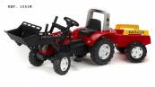 Šlapací traktor Falk Ranch s funkční přední lžící, valníkem