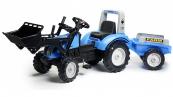 Šlapací traktor Landini Powermondial 115 s funkční přední lžící, valníkem