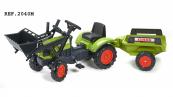 Šlapací traktor Claas Arion 410 s funkční přední lžící, valníkem