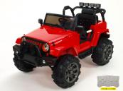 Elektrické auto Džíp Wrangler s 2,4G DO-červený