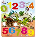 Dřevěné puzzle na desce - Ferda Mravenec - čísla