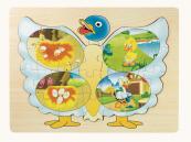 Dřevěné puzzle kachna