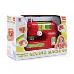 Dětský šicí stroj na baterie červený