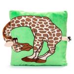 Plyšový polštářek Žirafa s uchem
