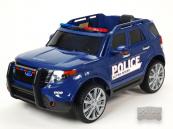 Elektrické auto Džíp USA policie modrý