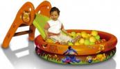Skluzavka a bazén s míčky Disney Medvídek Pú