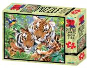 Puzzle Tygří rodina 3D 63 dílků