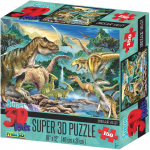 Puzzle Dinosauři 3D 150 dílků
