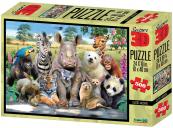 Puzzle Exotická zviřata 3D 500 dílků