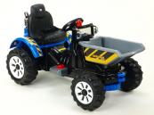Elektrický traktor Kingdom s výklopnou korbou modrý