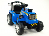 Elektrický traktor 12V - modrý
