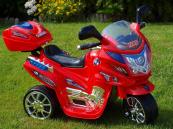 Elektrická motorka dálniční policie, střední velikost červená