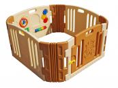 Dětská plastová ohrádka s hracím panelem