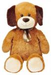 Plyšový pes s mašlí 80 cm