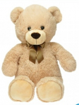 Plyšový medvěd s mašlí 80 cm