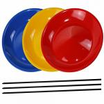 Žonglovací set - 3ks talířků + 3ks tyčinek