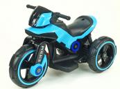 Elektrická motorka POLICE na velikých kolech modrá