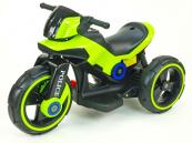 Elektrická motorka POLICE na velikých kolech zelená