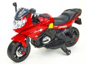 Elektrická silniční závodní motorka červená
