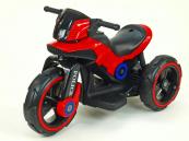 Elektrická motorka POLICE na velikých kolech červená