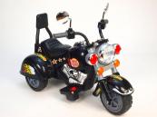 Elektrická tříkolka chopper Harley černá