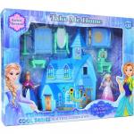 Domeček ledový zámek se světlem a zvukem s dvěma princeznami