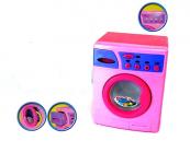 Dětská pračka na baterie růžová