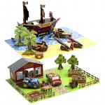 Stikbot filmařská sada pirátská loď nebo farma